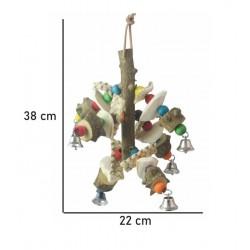 Marionet Med Sepia - fuglelegetøj til dit fuglebur