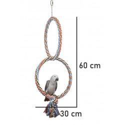 Farvet Dobbelt Ring - Fugle gynge