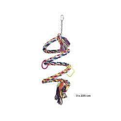Farvet Spiralreb - fuglelegetøj til fugleburet