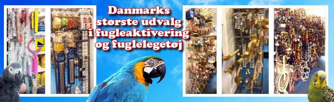 Danmarks største udvalg i fuglelegetøj